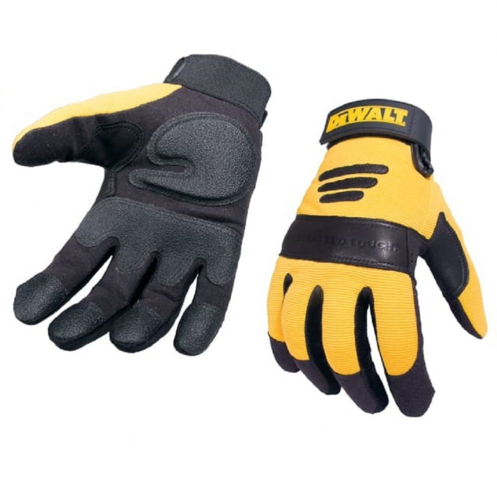 Dewalt DPG21L Synthetic Padded Leather Palm Gloves Large